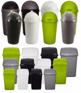 QUALITY PLASTIC SWING FLIP TOP BIN BULLET BIN  WASTE DUST RUBBISH BINS HOME