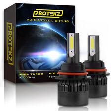 9004 HB1 LED Headlights Kit High Low Beam Upgrade Plug&Play Turbo CoolFan 6500K