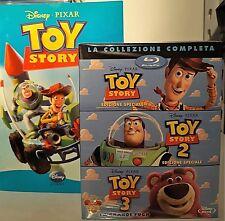 TOY STORY LA COLLEZIONE COMPLETA+LIBRO- 4 BLU RAY Walt Disney con SLIPCASE NUOVO