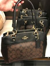 NWT Coach Signature Mini Brooke Carryall Handbag Satchel F26139 - Brown/ Black
