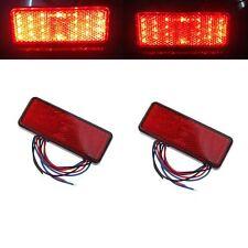 2 PIÈCES Voiture ATV SUV 12V Rouge 24 LED Stop Brouillard Freinage Arrière