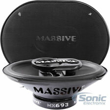 "MASSIVE AUDIO 500W 6"" x 9"" MX Series 3-Way Coaxial Car Speakers | MX693"