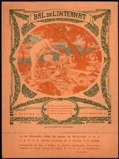 Invitation Bal de l'Internat. 1908. Jean Arnavielle