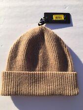 New Mens Beanie Cap Hat Murano 100% Cashmere beige $78