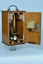 Ancien Instrument scientifique Optique Microscope Leitz wetzlar Leica Boite 19e
