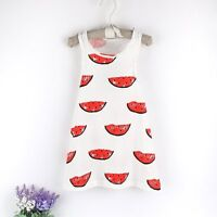 Age 1-5Y Kids Girls Summer Dress Princess Party Watermelon Dress Skirts Clothes