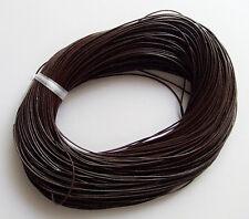 2mt di cordino  filo in Pelle cuoio 1mm colore marrone per bracciale,collana