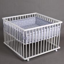 Laufgitter Babylaufgitter Laufstall 100x100cm Komplettset Babylaufstall WEISS