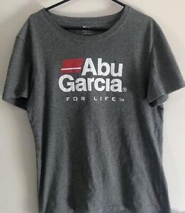 abu garcia Mens Fishing T-Shirt Size Large Grey