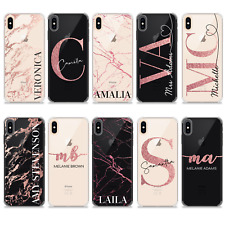 INITIALS NAME TPU GEL SOFT SILICONE PERSONALISED PHONE CASE FOR APPLE IPHONE X