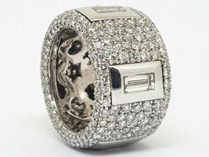 Gorgeous Beautiful Fully White Cubic Zirconia 15.24CT Unisex Wedding Band Ring