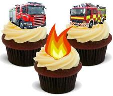 Bomberos fuego mezclar Stand Up Premium Tarjeta Cake Toppers