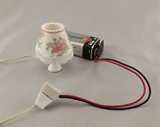 Dollhouse Miniature 9 Volt Battery Adapter with Outlet 1:12 Scale
