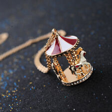 Nuevo carrusel Merry-Go-collar redondo oro Rojo Blanco