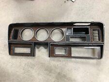 1981-1993 Dodge Powerwagon or Truck dash trim instrument bezel Woodgrain AC