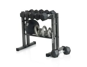 NEW Weider Two Tier Utility Weight Dumbbell Kettlebell Storage Rack WDBRK20 NEW