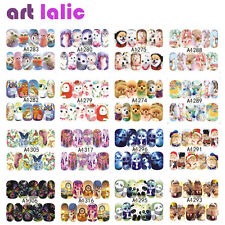 50 Sheet Manicure Cat Doggy Nail Art Tips Decals Water Transfer Stickers Decor