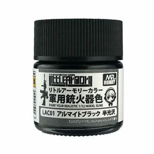 Gunze - Mr Hobby GunzLAC-01 LAC-1 Little Armory Color (10ml) Alumite Black