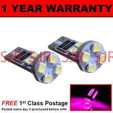 W5W T10 501 CANBUS ERROR FREE PINK 8 LED SIDELIGHT SIDE LIGHT BULBS X2 SL101605