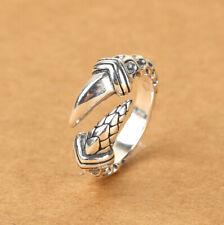 I07 Ring Drachenklaue Silber 925 größenverstellbar Gr. 17 - 18 Drache