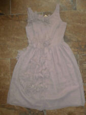 Ladies River Island Dress Size 6 BNWT £45 Nude 3D Flowers Prom Wedding Vintage