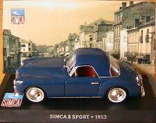 SIMCA 8 SPORT 1952 BLEU FONCE IXO ALTAYA 1/43 RACING COUPE ROADSTER DARK BLUE