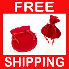 60 x sachets SUEDINE zakjes - ROUGE rood  105 x 85 mm