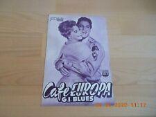 NEUES FILMPROGRAMM NR.2157 CAFE EUROPA G I BLUES ELVIS PRESLEY