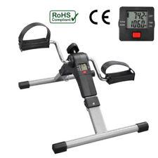 Folding Mini Exercise Bike Pedal Exerciser Arm Leg Cycle Bike Adjustable W/lcd