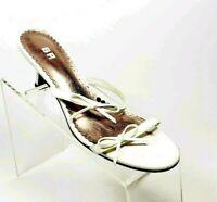 BP. Women's Size 6.5 M Pumps Heels Fashion Shoes White Leather Upper #P