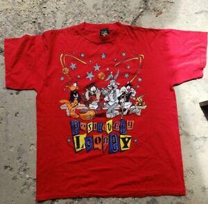 🔥Vintage 1996 rare nwot Looney tunes space jam t shirt 90s urban wear 🔥🔥