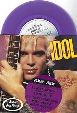 "Billy Idol SWEET SIXTEEN Australian *PURPLE* Vinyl RARE 2x 7"" SINGLE"
