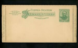 US Postal Stationery U293 Mint Letter Card Entire 2c Green on Cream 41 Perf