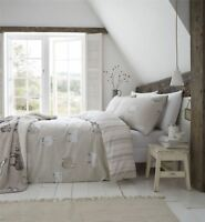 Catherine Lansfield Brushed Cotton Sheep King Size Duvet Set Natural