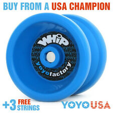 YoYoFactory WHiP Beginner Yo-Yo - Blue + FREE STRINGS
