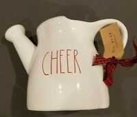 NWT Rae Dunn CHEER Ceramic Watering Can Christmas Holiday Gift Red LL by Magenta