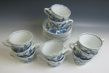 Lot of 10 Blue Danube China BLUE DANUBE - RECTANGLE MARK Cup & Saucer Sets