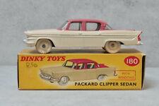 Dinky Toys 180 Packard Clipper Cerise / Cream ,Cream hubs Very Near Mint Boxed