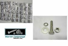 2590 PCS Coarse 18-8 Stainless Steel Bolt, Nut, Flat & Lock Washer Assortment