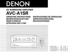 Denon AVC-A1SR Amplifier Owners Instruction Manual