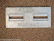 PLATE ANODE BOAT HULL ZINC 70 DP1 TRANSOM BOAT SALTWATER MARINE CAMP ZINC PLATE