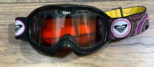 Vtg Roxy Ski Snowboarding Goggles Double Lens 1980s or 1990's Retro