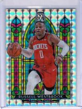 2019-20 Panini Mosaic Russell Westbrook Rockets Stained Glass Mosaic Prizm (Wi)