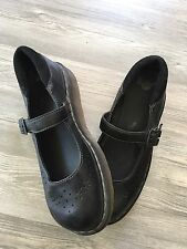 Womens Dr. Marten Mary Jane Chunky Heel leather Shoes Size 10