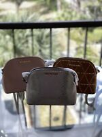 NWT  Michael Kors Adele Medium Dome Pebbled Leather Crossbody Bag Various Colors