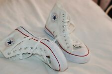 NWOB Converse All Star White Canvas Ankle Sneakers New  Size Men 9 Women 11