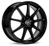 ENKEI 441-770-0245BK Black EDR9 17x7 Wheel 5x100mm/5x114.3mm Bolt Pattern