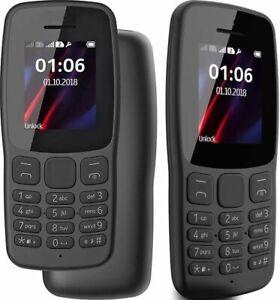 Brand New Boxed Nokia 106 Dual Sim 2018 Dark Grey Unlocked Big Button Phone