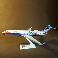 Scale 1/100 US Skywest Airline CRJ-200 30th Anniversary Assembled Airplane Model