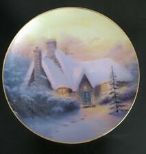 Thomas Kinkade Collector Plate - Christmas Tree Cottage - 1994 - Winter